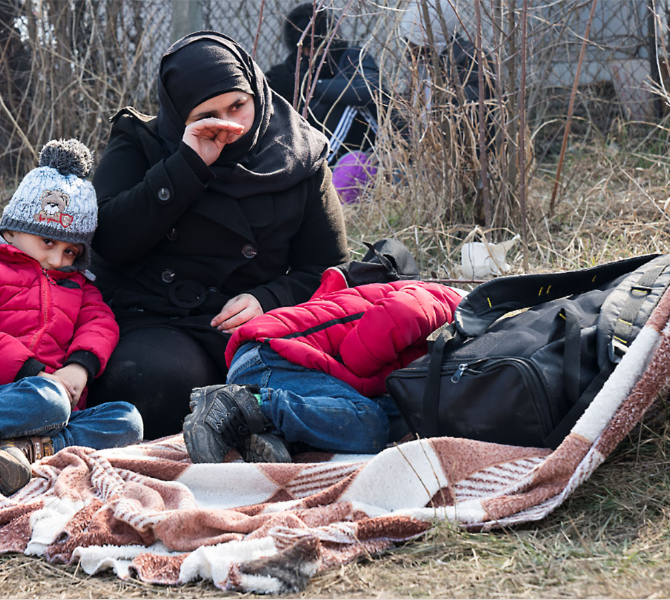 Migrants Refugees Lesvos Camp Moria